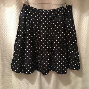 New York Company Size 16 Navy Polka Dot Skirt